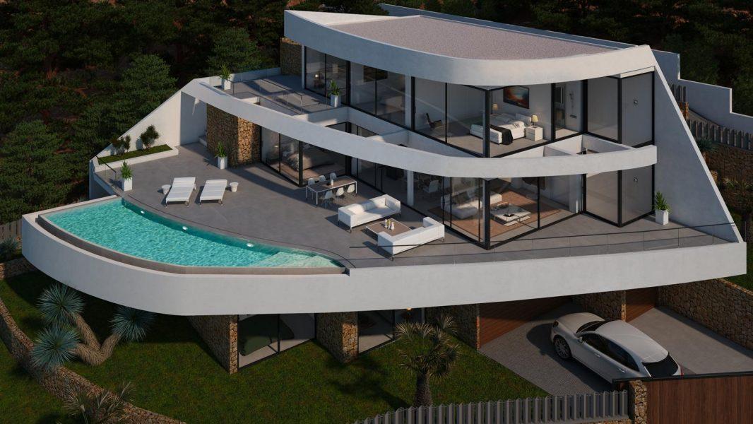 Altea: Luxury sea view villa, indoor pool, cinema room.