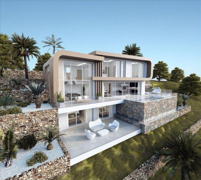 Moraira: Sea view luxury villa Milos