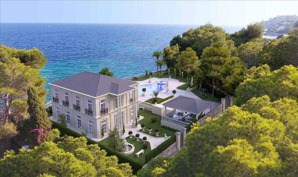 Moraira: Grand front-line sea view villa.