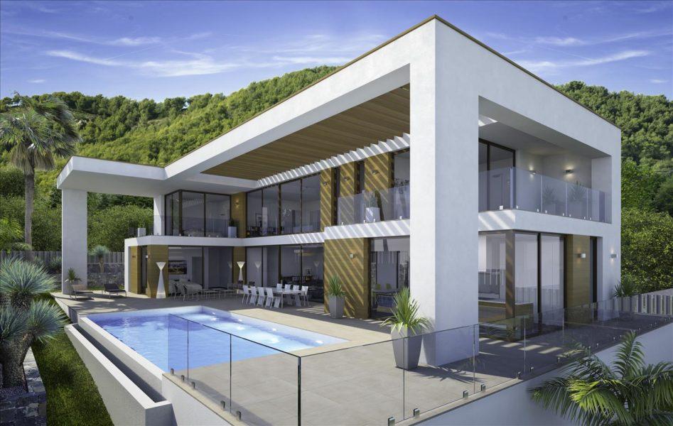 luxury modern homes bluerock