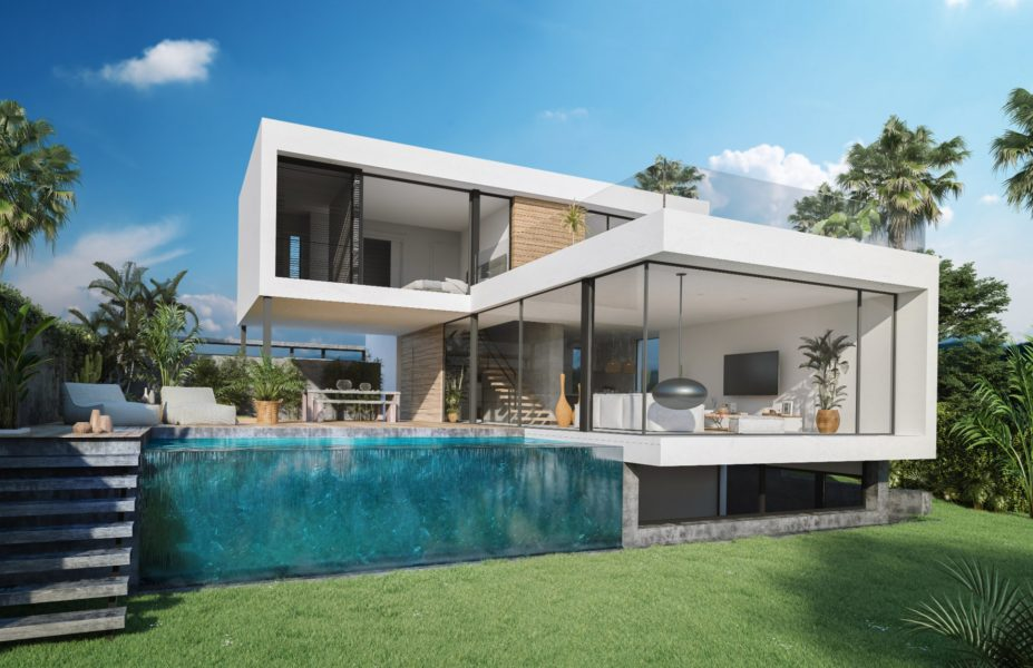NEW BUILD- Modern villa with views near Mijas for sale by Blue-Square